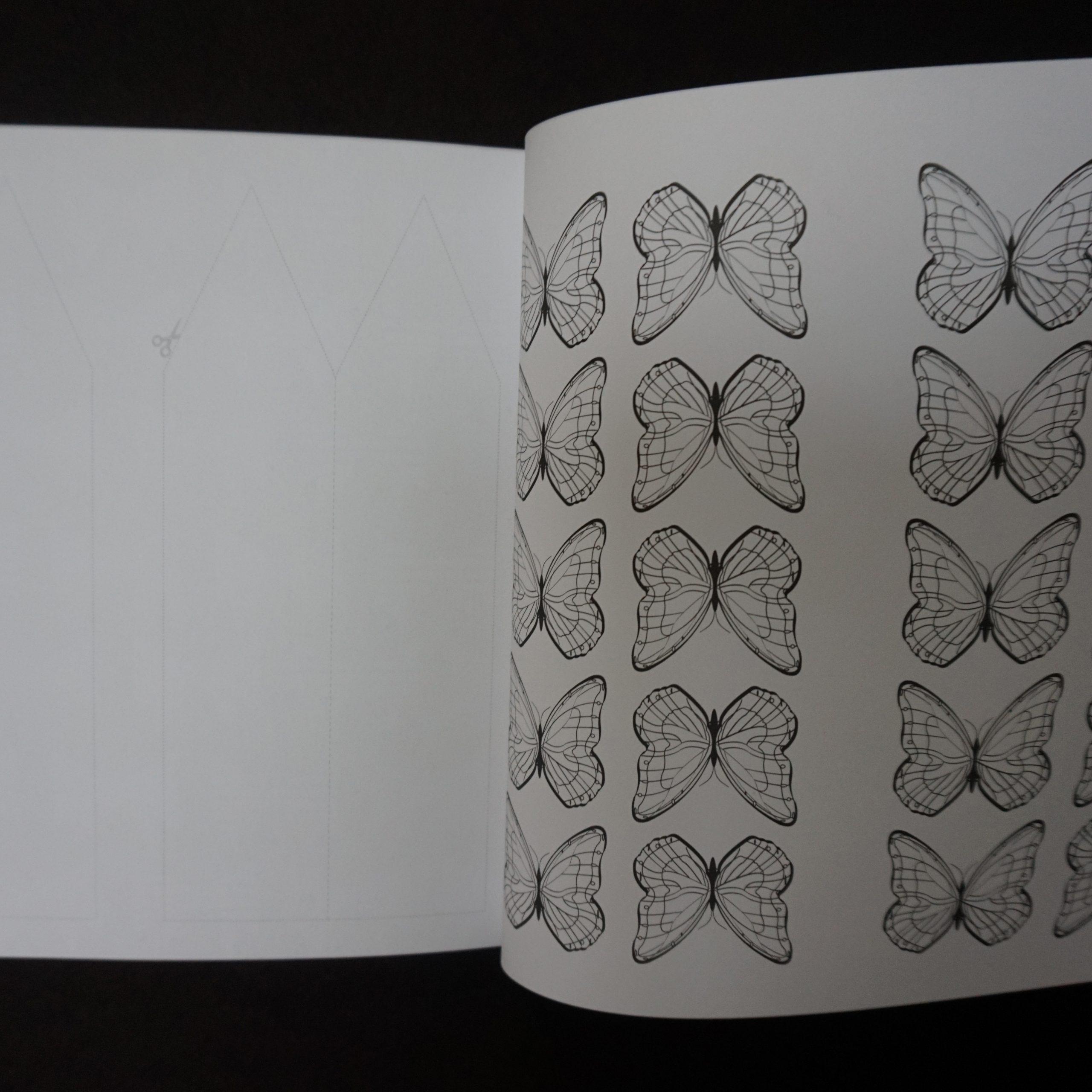 Papillons - Les carrés d'Art Thérapie