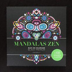 Mandalas Zen - Bloc de coloriage Black Premium