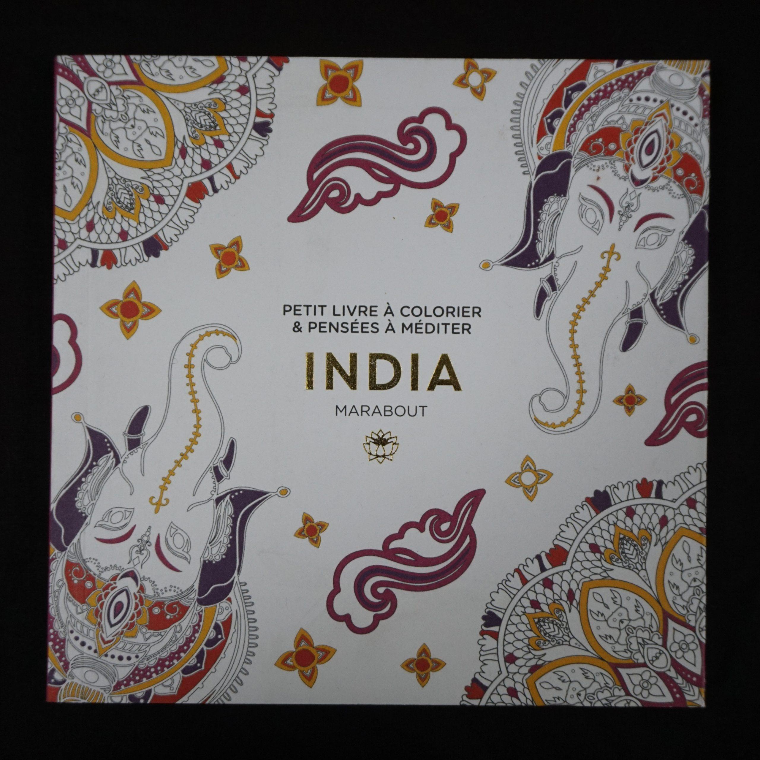 Le petit livre de coloriages: India